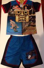 Kids Boy's Temple Run Pajama pajamas Set Shorts short sleeve 6/7