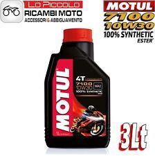 3 LITROS LT ACEITE MOTOR MOTUL 7100 4T 10W30 100% SINTÉTICO ESTER MA2 RACING