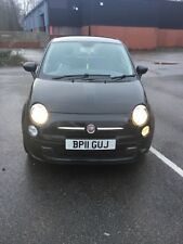 2011 Fiat 500 1.2 Pop 3dr [Start Stop] 3 door Hatchback black alloy s/h £30 tax