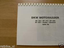 D0033 DKW---DKW MOTORRADER 1949-58---RT(125+175+250+350 )+ HOBBY + HUMMEL-MODEL