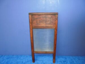 Vintage NATIONAL WASHBOARD CO. NO. 863 LINGERIE WASH BOARD with Glass insert