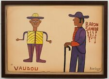 "ANTIQUE ORIGINAL COLLECTIBLE HAITIAN ART PAINTING ANDRE LAURENT ""VOODOO"" HAITI"