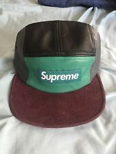 Leather Multi Color Panel Suede Brim Camp Cap Supreme Yeezy Boost Nike Bape