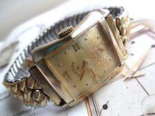 Vintage 1950's Men's Lord Elgin Flared Case 21J Cal. 670 14k G/F Watch Runs