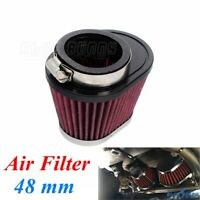 Universal Motorcycle Air Filter Cleaner For Honda Yamaha with 48mm Engine Inlet