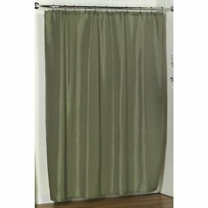 "Carnation Home ""Lauren"" Dobby Fabric Shower Curtain in Sage"