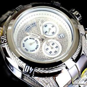 Invicta Reserve Bolt Zeus 1.81 CTW Diamond Steel Swiss Watch 52mm New