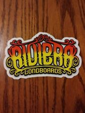 RIVIERA LONGBOARDS THE BLASTED STAMPED CREST LOGO DIE CUT SKATEBOARD STICKER
