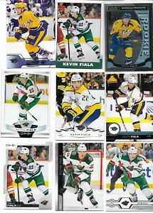 Kevin Fiala, 9 Different Card Lot  /  RC