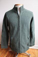 Patagonia L Green Lambs Wool Mock Neck Full Zip Cardigan Sweater Jacket