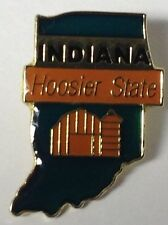 INDIANA HOOSIER STATE LAPEL PIN HAT TAC NEW