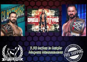 WWE Drew McIntyre Magnets! Set Of 3!