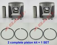 For PWC Jet Ski SeaDoo 720 Piston Kit (47-105, 290-887-670-0.25 +Piston Ring) X2