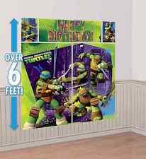 Teenage Mutant Ninja Turtles Scene Setter Happy Birthday Party Wall Poster 6 ft