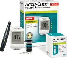 New Accu-Chek Instant S Blood Glucose Sugar Monitoring System Kit With 10 Strips