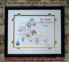 Disney Art Mr Toad Last Ride Closed 19+ Years Ago September 7, 1998 Last Day