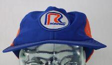 Roadway Mesh Net Snapback Challenger Caps Adjustable Cap Made in U.S.A. Blu/Orng