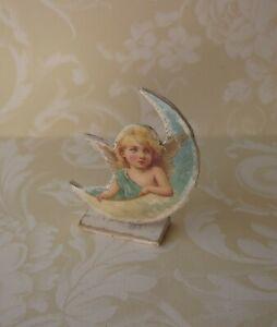 Dollhouse Miniature*Standing Angel on Moon*1:12*OOAK*artist*room decor*cupid*