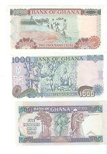 Ghana - 1994-1995, 500, 1000, 2000 Cedis !!UNC!!