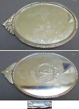 Miroir face a main en metal argenté angelot Ange miror Alpacca angel mirror