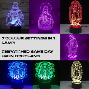 Christian Catholic Virgin Mary Guadalupe Jesus Lamp 3D Gift Light Decoration