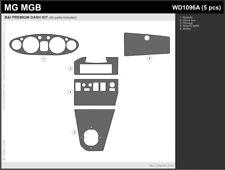 MG MGB Interior Dash Trim KIT 1972 - 1976 Brown Wood Burl