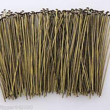 Bronze Alloy Metal Headpins / 2 Inch / 250 Pieces   23 gauge  #0516