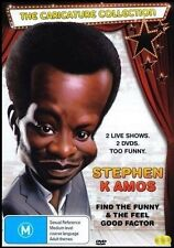 STEPHEN K AMOS FIND THE FUNNY AND THE FEEL GOOD FACTOR (DVD, 2DISC)R-4, LIKE NEW