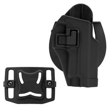 Plastic Tactical Gear Pouch Right Hand Gun Holster for Sig Sauer P226 P229 Black