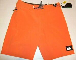 "NEW Quiksilver swim board shorts Highline Kaimana pick 30 32 or 38 x 20"" orange"