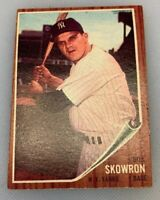 1962 Topps # 110 Bill Moose Skowron Baseball Card New York Yankees NY