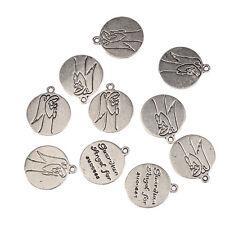 10pcs Tibetan Silver Guardian Angel for Success Charms  Pendant fit Bracelet