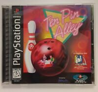 Sony PlayStation PSX PS1 10 Ten Pin Alley Complete w/ Manual CIB Bowling Game