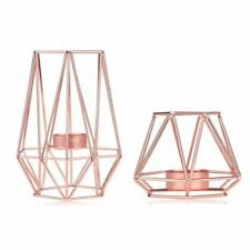 Candle Holders Geometric Metal Nordic Style Wrought Iron Candlestick Home Decor