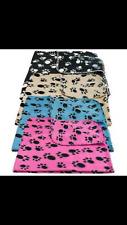 Large Pet Blanket Home Car Basket Dog Soft Fleece Print Design Small Animal