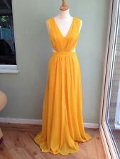 DRESS SIZE 8 BY ASOS FULL LENGTH CUT OUT DETAIL TO SIDES FLOATY LINED MANGO BNWT