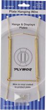 "Plymor Gold Wall Mountable Plate Hanger 2 Pk 8""H x 3""W x .5""D (Plates 10""-14"")"
