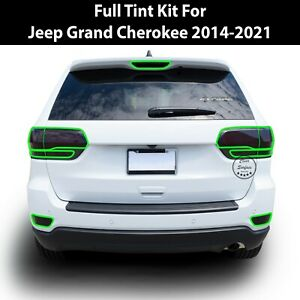 Fits 2014-2021 Jeep Grand Cherokee Tail Reflector Lights Overlay Tint Cover