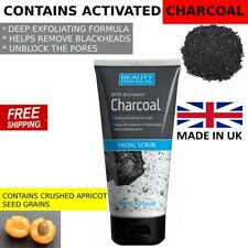 FACE SCRUB CHARCOAL FACIAL SCRUB CLEANSER BY BEAUTY FORMULA UK 150ML