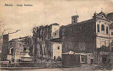 5768) ATESSA (CHIETI) LARGO FONTANA, CHIOSCO E CARRI. VG IL 23/12/1922.