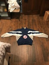 Vintage Starter New York Yankees Pullover Jacket White Blue Mens Bronx Bombers