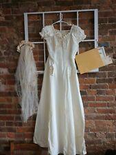 Hand-Sewn Vintage 1942 Wedding Dress