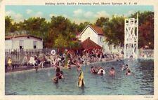 BATHING SCENE, SMITH'S SWIMMING POOL, SHARON SPRINGS, N.Y.