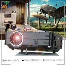7000 lumen WIFI Mini LED HD 1080P Projector Multimedia Home Theater Cinema 3D UK
