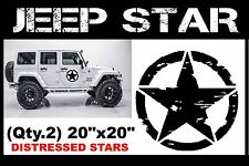 Military Jeep Army Star Circle Skull Door Decal, Willys, USMC, Vinyl Sticker