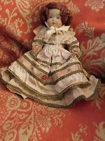 ANTIQUE FRENCH ORNATE CELLULOID BABY WITH HAIR