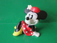 Minnie Mouse Ceramic Piggy Coin Bank Enesco Sitting Red Dress 7""