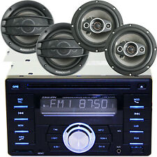 NEW Gravity AGR-502BT CD Player w/ Bluetooth USB + 4x AB-630 800W 6.5
