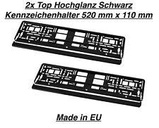 2x Hochglanz Schwarz Kennzeichenhalter Nummernschildhalter Made in EU  Für Fiat