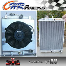 3 ROW for aluminum radiator shroud fan Honda Civic EK EG 92-00 with 32mm in/out